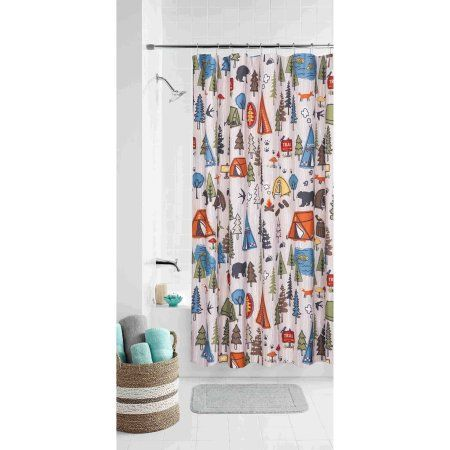 Home Camping Shower Kids Shower Curtain Shower Curtain