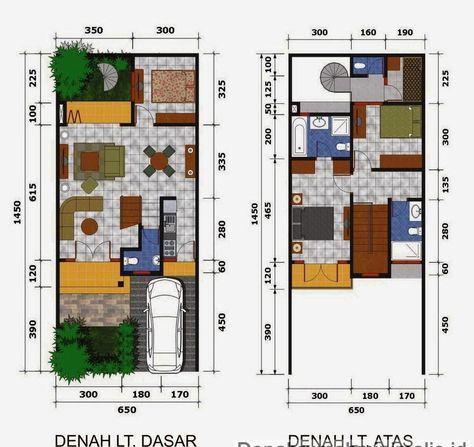 51+ sketsa denah rumah minimalis 1 lantai & 2 lantai