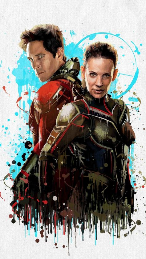 Artwork, Ant-man and the Wasp, movie, superhero team, 720x1280 wallpaper