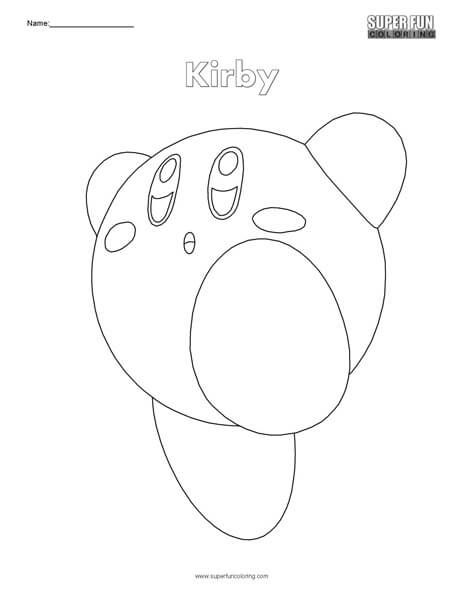 Kirby Nintendo Coloring Kirby Nintendo Cool Coloring Pages Kirby