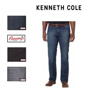 VARIETY SIZE /& COLOR NEW MENS KENNETH COLE NEW YORK STRAIGHT LEG JEANS STRETCH