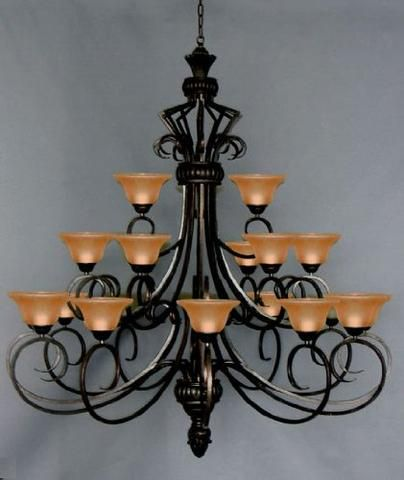 Wrought Iron Chandelier Lighting H47 X W40 G7 2197 15 In 2020