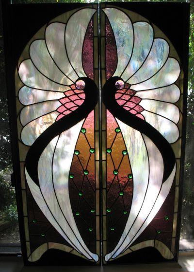 Art Deco Glass Painting Designs