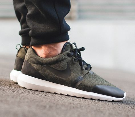 "new arrival ffc05 b3fdb Nike Roshe One Nm ""Tech Fleece"" Pack – Cargo Khaki  Black – White"