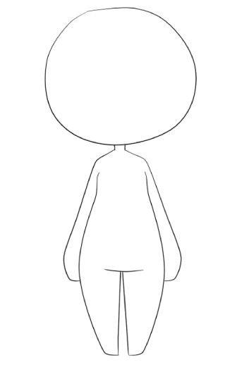 Front Facing Chibi Pose Chibi Body Kawaii Drawings Chibi Drawings