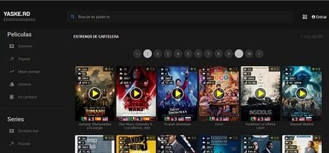 Ver Peliculas Online Gratis Mejores Paginas Cine 2020 Paginas Para Ver Peliculas Peliculas Online Gratis Ver Peliculas Online Traffic estimate for yaske.ro is about 155,400 unique visits and 553,224 page views per day. paginas para ver peliculas