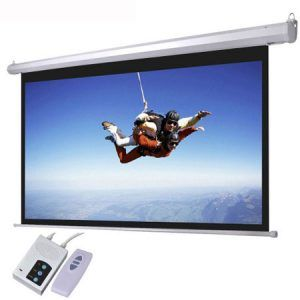 Remote Controlled Electric Projector Screens 96 X 96 Electric Screen Projection Screen 3d Projector