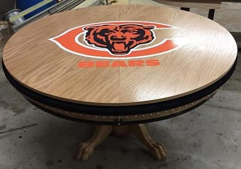 Chicago Bears Round Poker Dining Table Round Poker Table Poker Table Poker Table For Sale