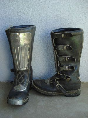 Motorcycle boots with metal plate. Saw something similar to