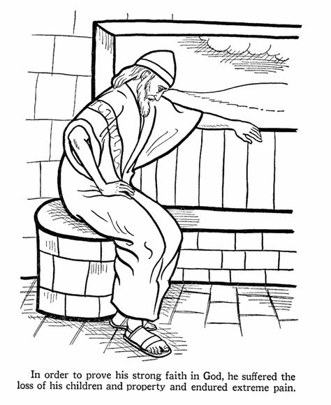 Job Bible Story Coloring Page Bible Coloring Pages Sunday
