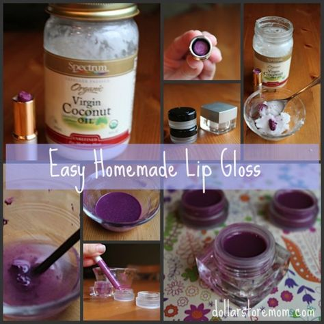 Homemade Lip Gloss - w/ leftover lipstick
