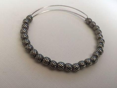Alex And Ani Russian Silver Beaded Bangle Expandable Jewelry Rare! Alex Ani - http://designerjewelrygalleria.com/alex-ani/alex-and-ani-russian-silver-beaded-bangle-expandable-jewelry-rare-alex-ani/
