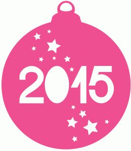 Silhouette Design Store - View Design #71951: 2015 new year bauble by Sarah Hurley