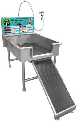 Great Option For A Dog Wash. Non Slip Ramp, Open Front Tub Tray, And Spray Wand  Assembly. May Want An Open Grid In The Tub To Allow Dirt And Debris To Fu2026