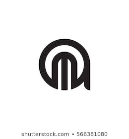 Initial Letter Logo Am Ma M Inside A Rounded Lowercase Black
