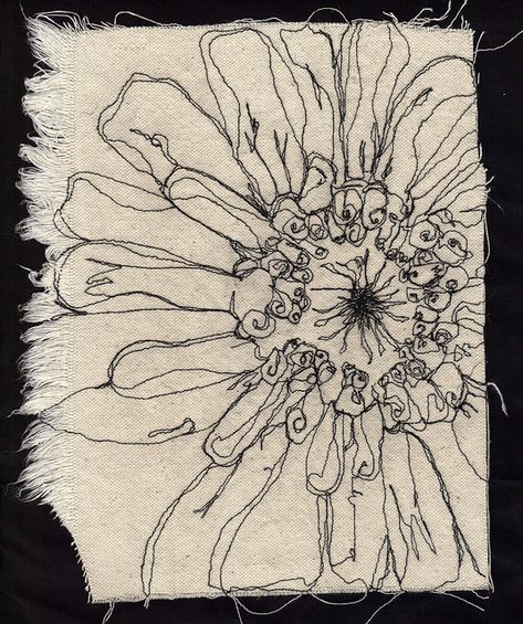 Free motion embroidery by carolbsloan, via Flickr