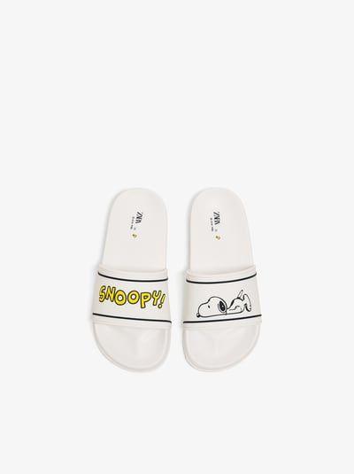 b84c57b0ec ZARA - Unisex - Snoopy pool sandals - White - 13½ (7.7 inches ...