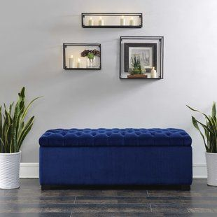 Blue Upholstered Storage Benches You Ll Love Wayfair Picket House Furnishings Bench With Shoe Storage Tufted Storage Ottoman