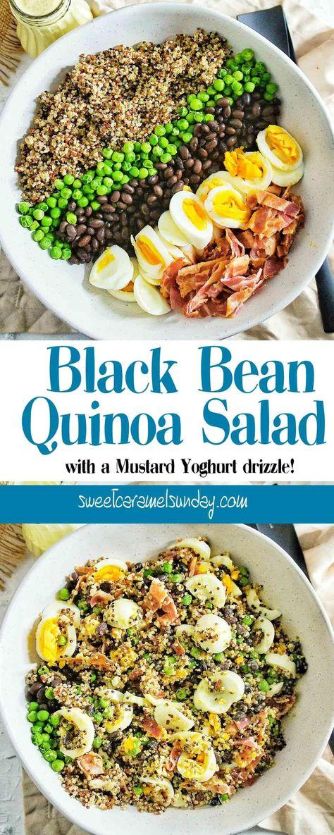 Black Bean Quinoa Salad | Sweet Caramel Sunday #blackbeans #blackbeanrecipes #blackbeanquinoasalad #salad #saladrecipes #quinoa #quinoarecipes #quinoasalad #quinoasaladrecipes #lunch #eggsalad #bacon #baconsalad #crispybacon #edamame #edamamesalad #dinner #bbq #bbqsalad #sweetcaramelsunday #dinner #lunch #foodaddicts #instagood #food  #yummy #instapic #yum #delicious #fresh #foodie #homemade #foodporn #pnwfoodie Foodpics #foodcoma #eats #yummie #recipes #followme #buzzfeedfood #foodtime