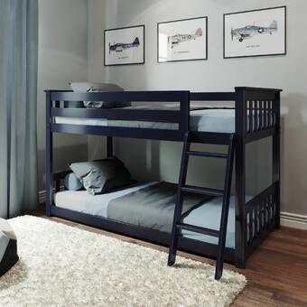 Bellmead Twin Over Twin Bunk Bed Glavnye Spalni Dvuhyarusnaya