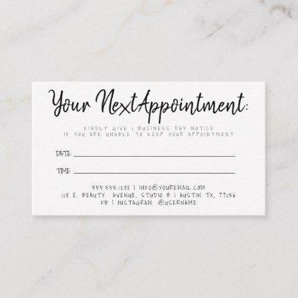 Your Next Appointment Reminder Script Zazzle Com