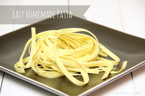 Easy Homemade Pasta (includes traditional, gluten free, and vegan recipes)
