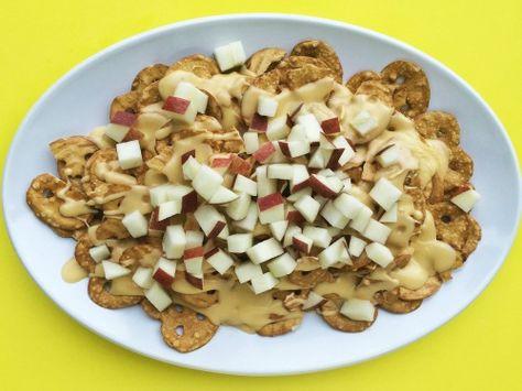 Cheesy Pretzel Nachos: This wacky combo strikes just the right balance between salty, sweet, cheesy, and crunchy.