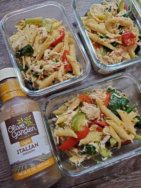 Slow Cooker Olive Garden Chicken Pasta - The Meal Prep Ninja