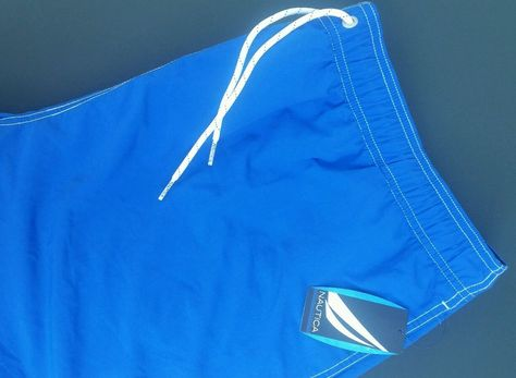 Nautica Men's Bright Cobalt Blue Swim Trunks / Board Shorts XXL 2XL Swimwear NWT #Nautica #Trunks
