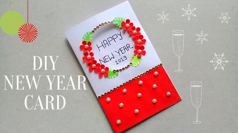 Diy New Year Greeting Card How To Make New Year Card Simple And Easy New Year Card For Kids This I New Year Card New Year Greetings