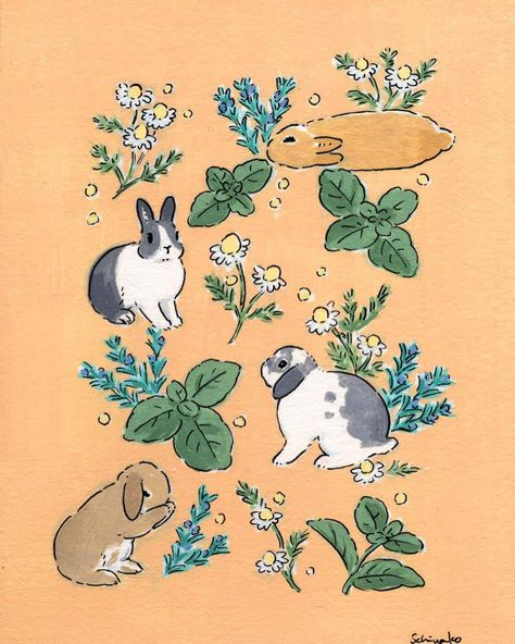 Herb and bun🐇 ハーブとうさぎさん🌱 I& using always masking fluid if I want to guard the motifs from background color. The product is Daler Rowney Art Masking Fluid. The paint is acrylic paints(holbein). The ink and the pen are the things for manga. Bunny Drawing, Bunny Art, Disney Concept Art, Kunst Inspo, Art Inspo, Art And Illustration, Illustrations, Rabbit Illustration, Pretty Art