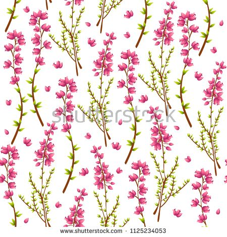 Vector Seamless Pattern With Heather Or Calluna Vulgaris On White Background Perfect For Textile Covers Wallpapers And Ot Seamless Patterns Pattern Seamless