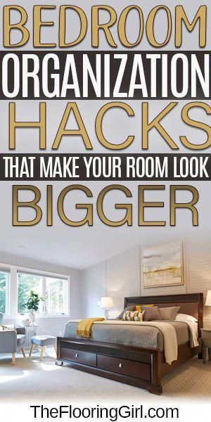 It can be difficult to get a space like your bedroom to appear bigger, but these organization hacks and ideas can get you there. Most of us have a room that we wished we could declutter successfully, and you can if you follow some of our simple tips and tricks. #organizationhacks #lifehacks #hacks #organization #declutter