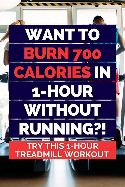 Walking On Treadmill, Treadmill Workouts Fat Burning, Treadmill Calorie Burn, Treadmill Incline Workout, 1 Hour Workout, Treadmill Desk, Walking Workouts, Walking Exercise, Fat Burning Workout