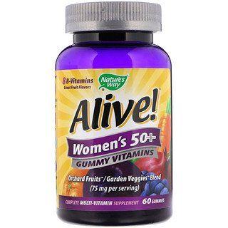 Nature S Way Alive Women S 50 Gummy Vitamins Fruit Flavors 60 Gummies Vitamins For Women Gummy Vitamins Vitamins