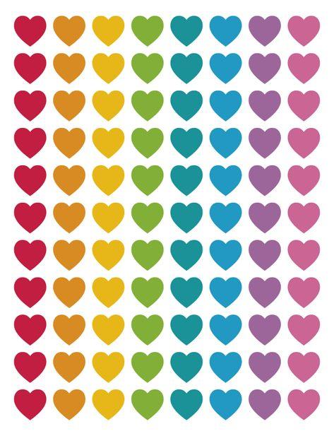 5 rainbow spreadsheets stickers -