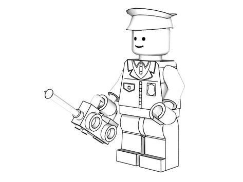 3d Lego Police Coloring Pages Lego Coloring Pages Lego Coloring Free Kids Coloring Pages