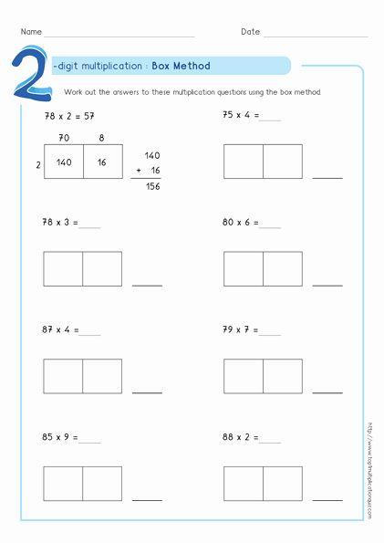 Box Method Multiplication Worksheet Lovely Box Method Multiplication 2 Digit Numb In 2020 Area Model Multiplication Multiplication Worksheets Box Method Multiplication