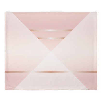 Dusky Pink Rose Gold Geometric Duvet Cover Geometric Duvet Cover Geometric Duvet Gold Geometric