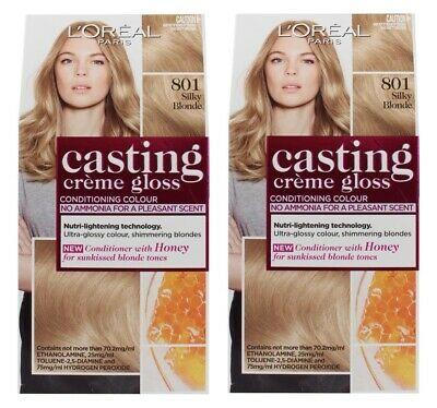 2 X Loreal Casting Creme Gloss Hair Colour 801 Silky Blonde Brand New Ebay Loreal Casting Creme Gloss Loreal Hair Color Gloss Hair