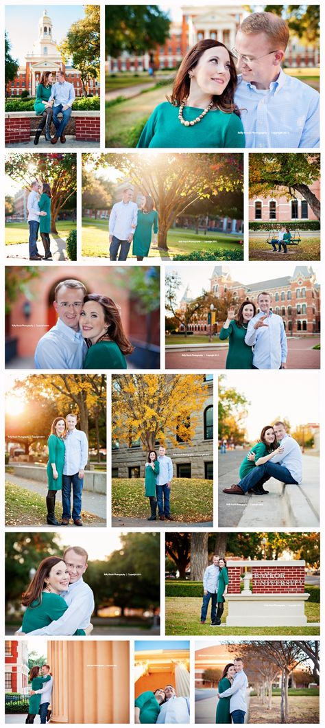 Baylor and Waco Engagement (© Kelly Hosch Photography)