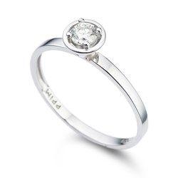 Solitario Ouro Branco E 21 Pontos De Diamantes Com Imagens