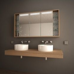Spiegelschrank Mit Floralem Motiv Fleur Badezimmer
