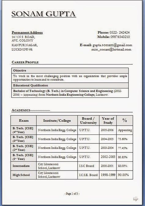 how to make resume free Sample Template Example of Excellent - computer science resume sample