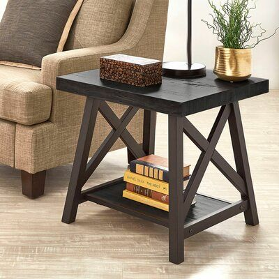 Allon Trestle End Table End Tables Coffee Table End Tables With Storage