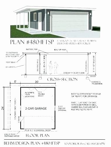 House Plans With Rv Garage Fresh Flat Roof Garage Plans Double Modern Maker House Home Simple