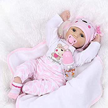 Amazon Es Ziyiui Muñecas Reborn Bebe 22 Pulgadas Reborn Niño 55 Cm Muñeca Reborn Realista Ojos Abiert Bebés De Silicona Bebes Reborn De Silicona Juguetes Bebe