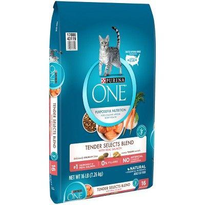 Purina One Salmon Tuna Flavor Dry Cat Food 16lbs Dry Cat