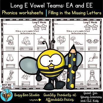 Long Vowel Teams Ee Ea Worksheets Vowel Team Phonics Activities Phonics Worksheets Vowel team ea worksheets