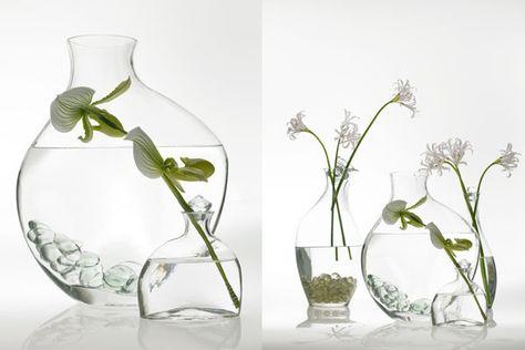 """10/"""" Tall Broken design Tube Clear Glass Vase"""